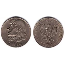 (Y50a) Polonia. 1970. 10 Zlotych (EBC)