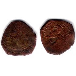 Felipe II. Sin Fecha. 2 Cuartos (BC-) Ceca de Cuenca CI