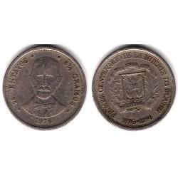 (43) República Dominicana. 1976. 25 Centavos (BC)