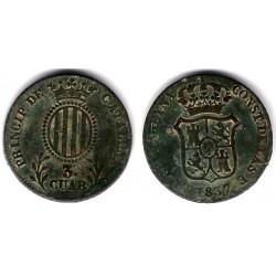 Isabel II. 1837. 3 Cuartos (BC) Ceca de Cataluña