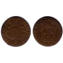 Fernando VII. 1823. 3 Cuartos (BC) Ceca de Cataluña