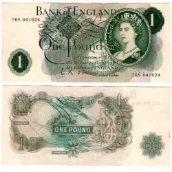 (374a) Gran Bretaña. 1960-77. 1 Pound (MBC)