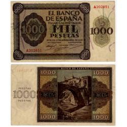 Estado Español. 1936. 1000 Pesetas (EBC-) Serie A