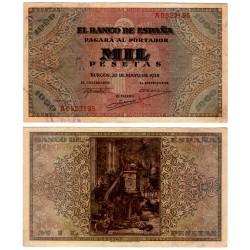 Estado Español. 1938. 1000 Pesetas (EBC+) Serie A