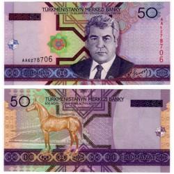 (17) Turkmenistán. 2005. 50 Manat (SC)