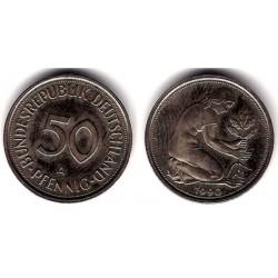 (109.2) Alemania. 1990(A). 50 Pfennig (MBC)