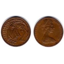 (32.1) Nueva Zelanda. 1973. 2 Cents (MBC)