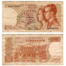 (139) Bélgica. 1966. 50 Francs (BC)