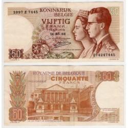 (139) Bélgica. 1966. 50 Francs (MBC)
