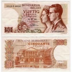 (139) Bélgica. 1966. 50 Francs (MBC+)