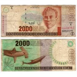 (265) Costa Rica. 1997. 2000 Colones (BC)