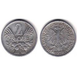 (Y46) Polonia. 1958. 2 Zlote (MBC)