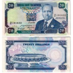 (25e) Kenia. 1992. 20 Shillings (EBC) Pequeña manchas