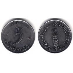 (627) Francia. 1964. 5 Centimes (MBC+)