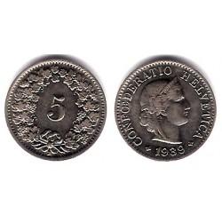 (26) Suiza. 1939(B). 5 Rappen (MBC)
