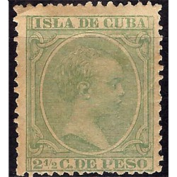 (140) Cuba Colonial. 1890-97. 2½ Centavos de Peso (Nuevo, sin goma)