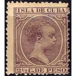 (142) Cuba Colonial. 1894. 2½ Centavos de Peso (Nuevo) Rotura en goma