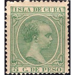 (145) Cuba Colonial. 1891. 5 Centavos de Peso (Nuevo)