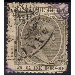 (144) Cuba Colonial. 1890-97. 5 Centavos de Peso (Usado)