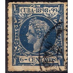 (166) Cuba Colonial. 1898-99. 6 Centavos (Usado)