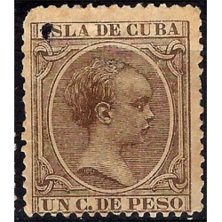(132) Cuba Colonial. 1890-97. 1 Centavo de Peso (Usado)