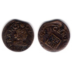 Luis XIII. Sin Fecha. Dinero (BC-) Ceca de Vic