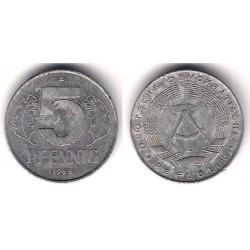 Alemania Democrática. 1968(A). 5 Pfennig (BC)