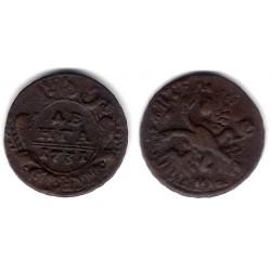(188) Imperio Ruso. 1731. ½ Kopek (MBC)