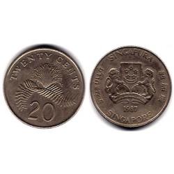 (52) Singapur. 1987. 20 Cents (MBC)