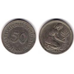 (109.1) Alemania. 1950(J). 50 Pfennig (MBC)