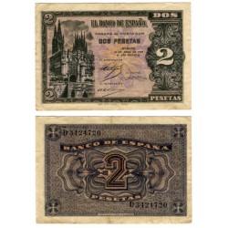 Estado Español. 1938. 2 Pesetas (MBC) Serie D