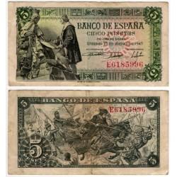 Estado Español. 1945. 5 Pesetas (MBC) Serie E