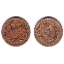 (3.1) Suiza. 1870. 1 Rappen (BC+)