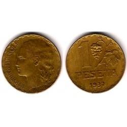 España (II República). 1937. 1 Peseta (MBC) Variante