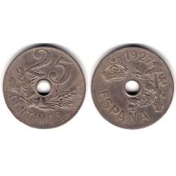 Alfonso XIII. 1927. 25 Céntimos (BC) Ceca de Madrid PC-S