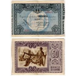 España (II República). 1937. 50 Pesetas (MBC)