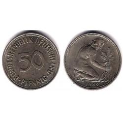 (109.1) Alemania. 1969(J). 50 Pfennig (MBC)