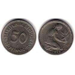 (109.1) Alemania. 1950(F). 50 Pfennig (MBC)
