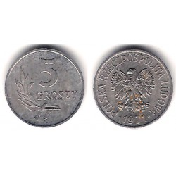 (YA46) Polonia. 1971. 5 Groszy (EBC+)