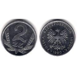 (Y80.3) Polonia. 1990. 2 Zlote (SC)