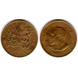 (11) Kenia. 1977. 10 Cents (MBC)