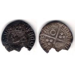 Fernando V. 1452-1516. 1 Real / Croat (MBC) (Plata) Ceca de Barcelona. Rotura