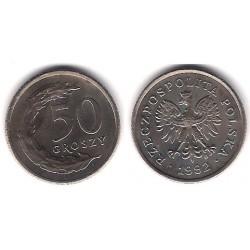 (Y281) Polonia. 1992. 50 Groszy (SC)