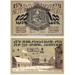 Polonia. Angerburg. 1921. 1 Mark (EBC+)