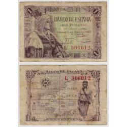 Estado Español. 1945. 1 Peseta (MBC-) Serie L