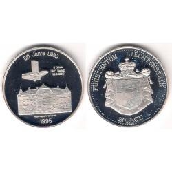 Liechtenstein. 1995. 20 Ecu (Proof) (Plata)