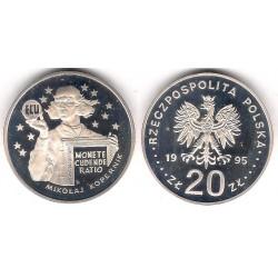 (Y302) Polonia. 1995. 20 Zlotych (Proof) (Plata)