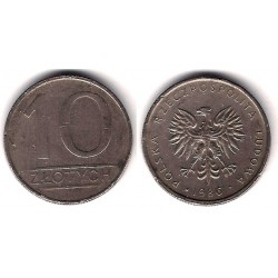 (Y152.1) Polonia. 1986. 10 Zlotych (BC)