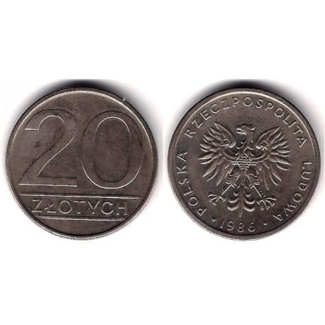 (Y153.1) Polonia. 1986. 20 Zlotych (MBC-)