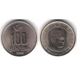 (1106) Turquia. 2003. 100 Bin Lira (SC)